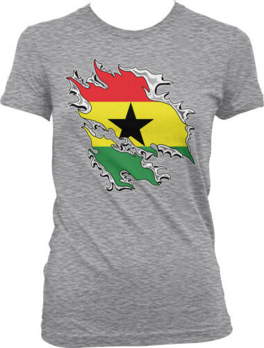 Shredded Ghana Rip Through Flag Ghanaian Pride Juniors T-shirt