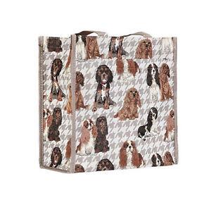 de427f9448 Image is loading Cavalier-King-Charles-Spaniel-Dog-Tapestry-Shopper-Bag-