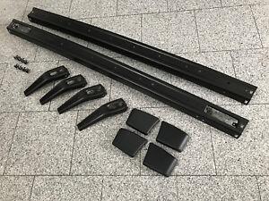 Golf1-Jetta1-Cabriolet-Metal-Pare-Chocs-Noir-Pulverbeschichet-KOMPLETT-SET-1