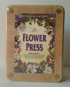 NIP Botanical Science Flower Press Kit Set Hard Wood Art & Craft