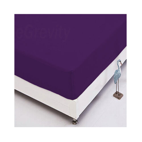 100/% Cotton Rich Fitted Sheets Flat Sheets or Pillow cases Single Double King