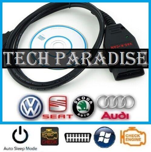 1x Cable diag USB VAG K+CAN commander complet 1.4 OBD2 PIN Seat Audi Skoda VW