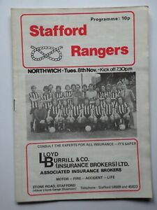 STAFFORD RANGERS v NORTHWICH VICTORIA 1977-1978 FA Cup 4th Qualifying Rd. replay