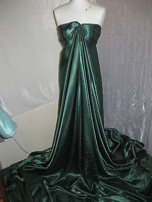 "1 M TEAL GREEN  DRESS  SATIN FABRIC..58/""  WIDE"