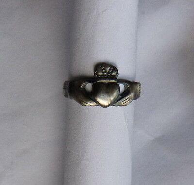 Jewelry & Watches Intelligent Glauben Irisch Claddagh ° Aus Silber Brüniert 925 Tausendstel Precious Metal Without Stones