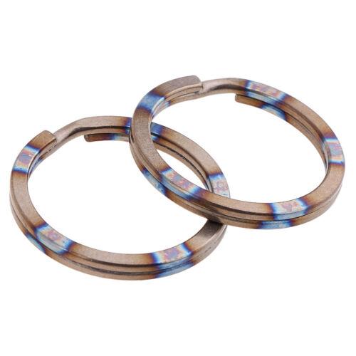 2pcs Titanium Keyring Split Rings Metal Keychain Key Chain Links for Fishing