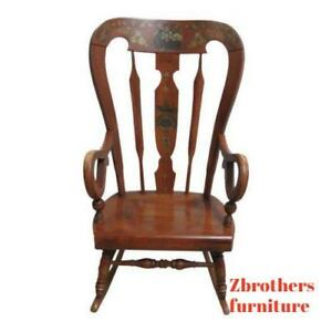 Ethan-Allen-Balloon-Back-Homestead-Nutmeg-Rocker-Rocking-Chair