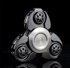 Black-UFO CKF EDC Hand Fidget Spinner Titanium Alloy Finger Gyroscope Focus Toy