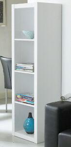 Bücherregal weiß schmal  Regal Wandregal Bücherregal schmal Hochglanz weiß | eBay