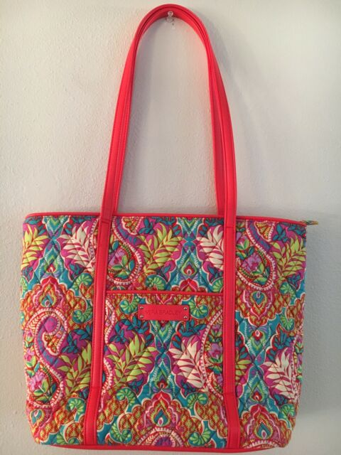 fc2ad5d32245 Vera Bradley Small Trimmed Vera Tote Bag Paisley in Paradise 14300 ...