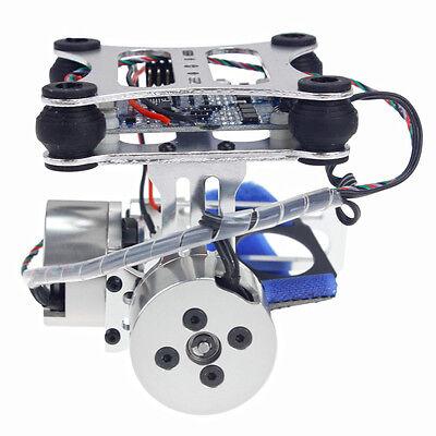 Aluminium 2-axis Cardan Caméra Mount PTZ stable avec moteur sans contrôleur