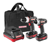 Craftsman C3 19.2v Drill & Impact Driver Combo Kit 2 Batteries & Charger 55233