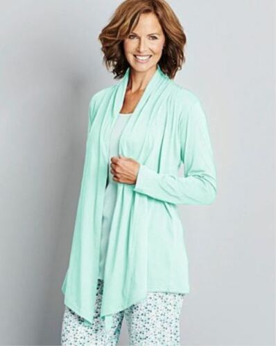Ladies Womens Top Lounge Jacket Waterfall Mint colour 28-30 /& 32-34