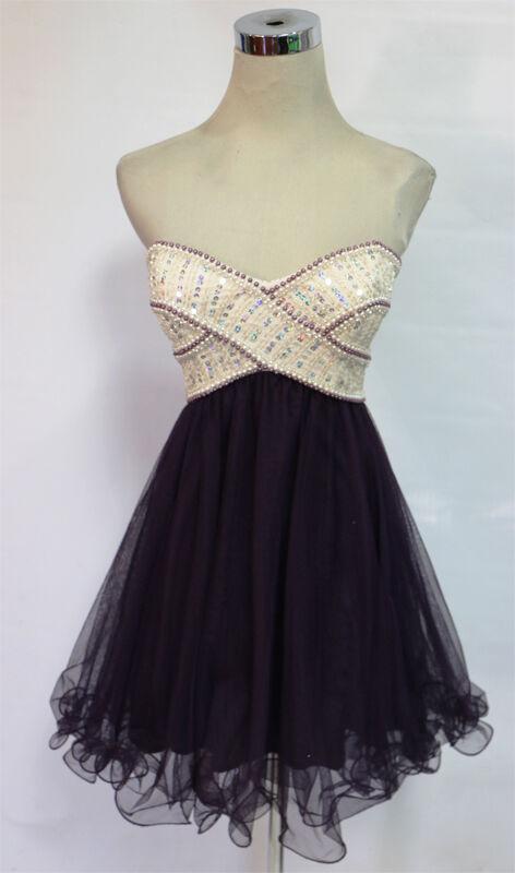 BLONDIE NITES Burgundy Ivory Party Homecoming Dress 3 - 150 NWT