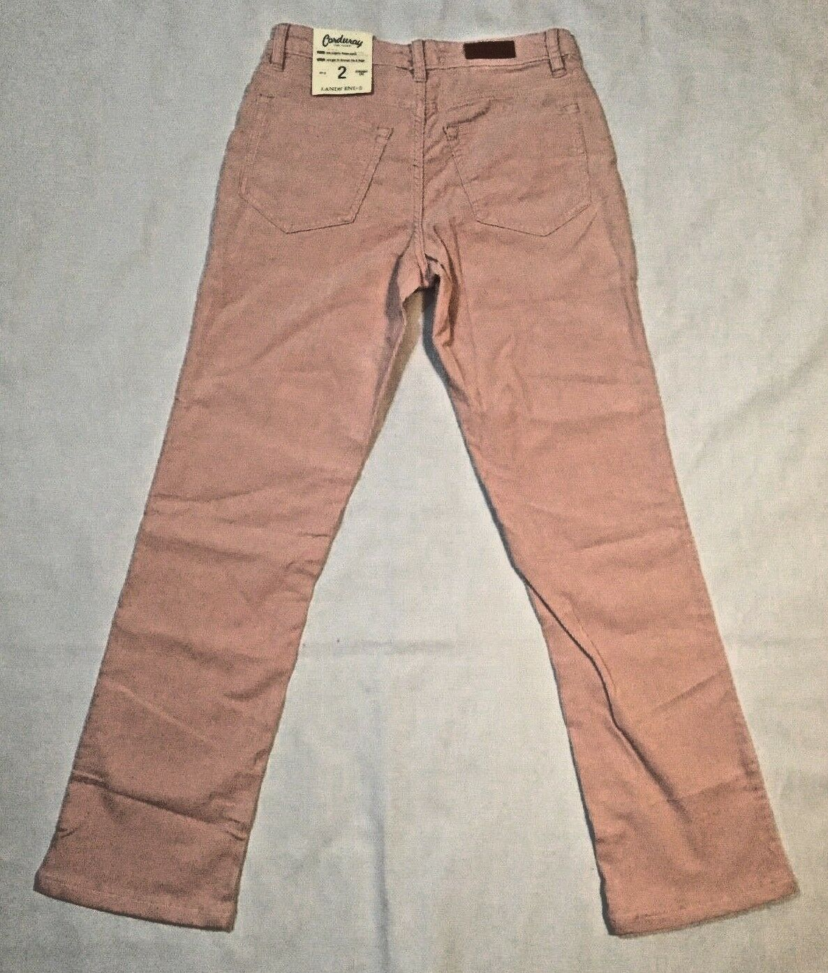 Lands' End Women's Mid Rise Straight Leg Corduroy Pants Size 2 New with Tags