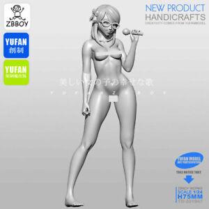 Unassembled-Figure-Beautiful-Pretty-Girl-is-Singing-1-24-scale-50mm-model