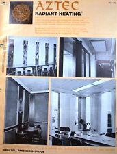 AZTEC Int Radiant ASBESTOS Electric Heating Panels 1975