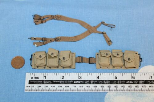 Linea di allarme modelli 1:6TH SCALA WW2 U.S Rangers M1937 Bar Cintura e bretelle 100027