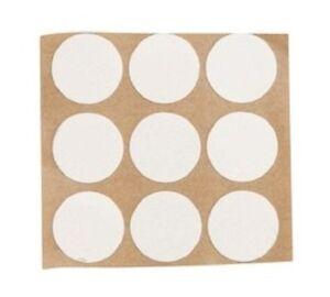 Lot de 100 cache vis adhésifs coloris blanc diamètre 13mm