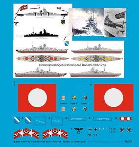 Peddinghaus-1-200-3318-Schlachtschiff-Scharnhorst-Basismarkierung