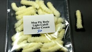 30 Mop Fly Body for Fly Tying Yellow
