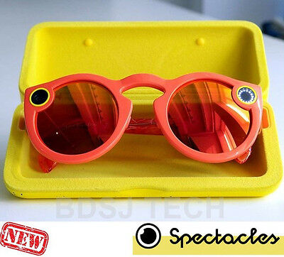Snap Spectacles - Smart Phone Camera Glasses SnapChat (Sealed Retail) CORAL/RED