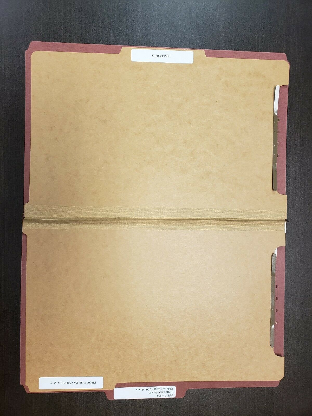Letter ONE BOX 10 Smead Smd-14097 Straight-line Top Tab Classification Folder