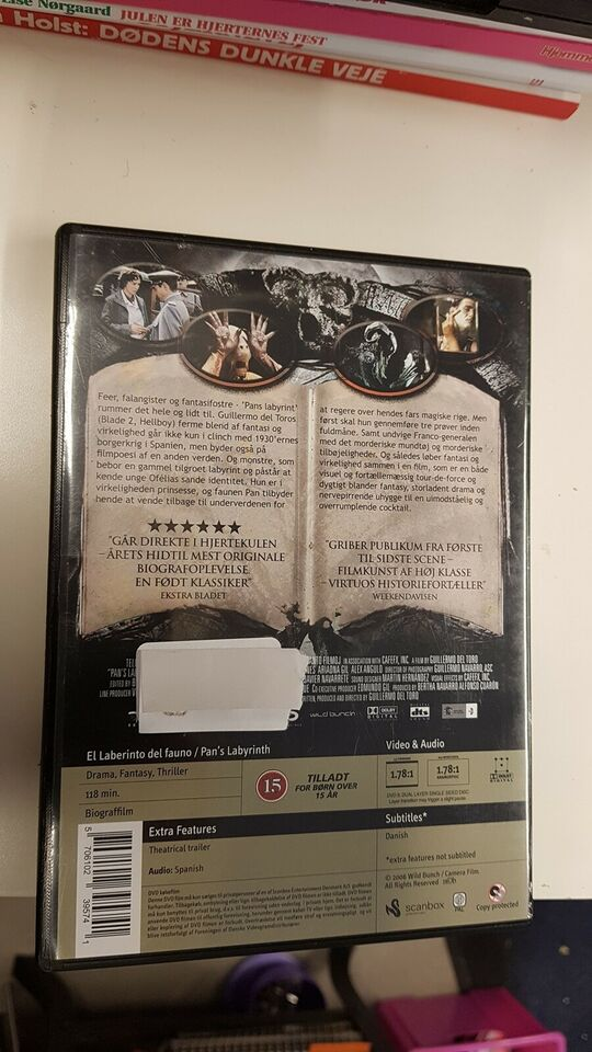 Pans labyrint, instruktør Guillermo Del Toro, DVD