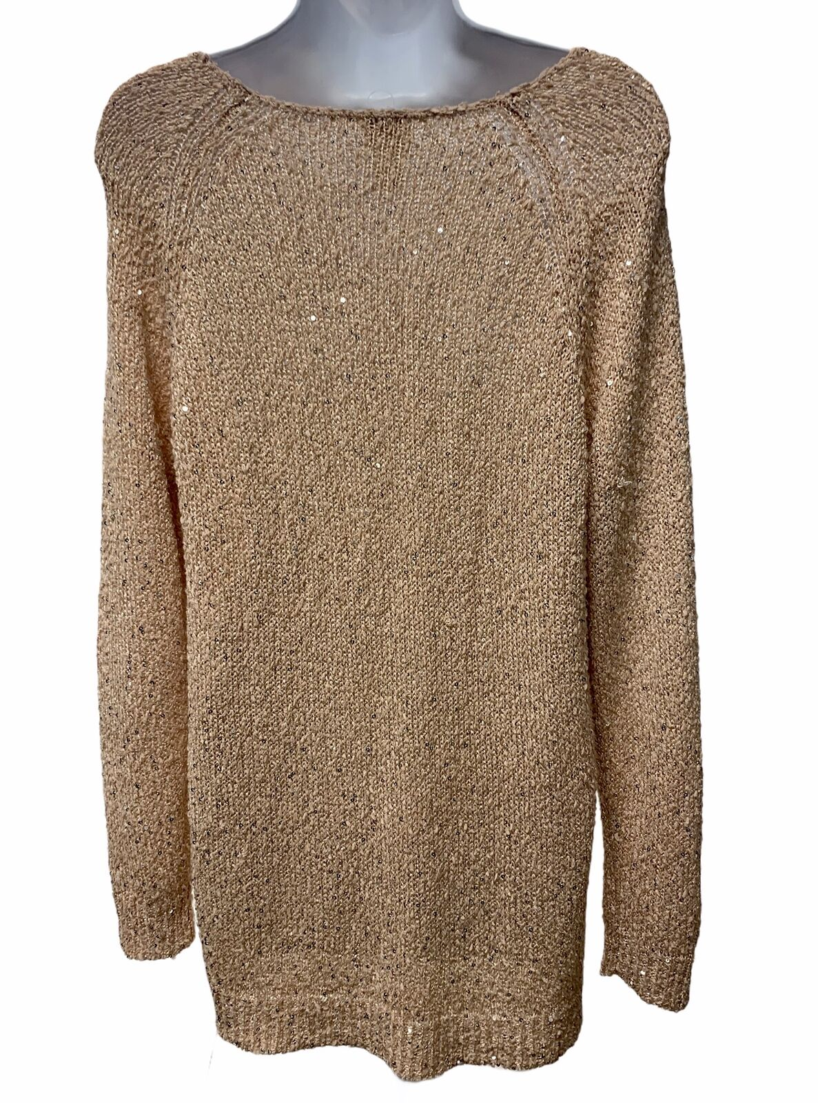 Chico's Sequin Claire Knit Sweater Womens Light P… - image 2
