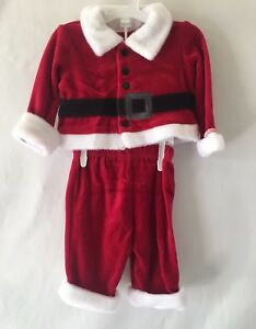 7e357e92b9846 New Cat And Jack Baby Boy Christmas Holiday Santa Outfit, Size ...