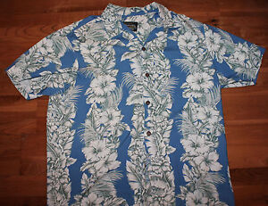 Hawaiian-Clothing-Tiare-Hawaiian-Blue-Shirt-Size-L