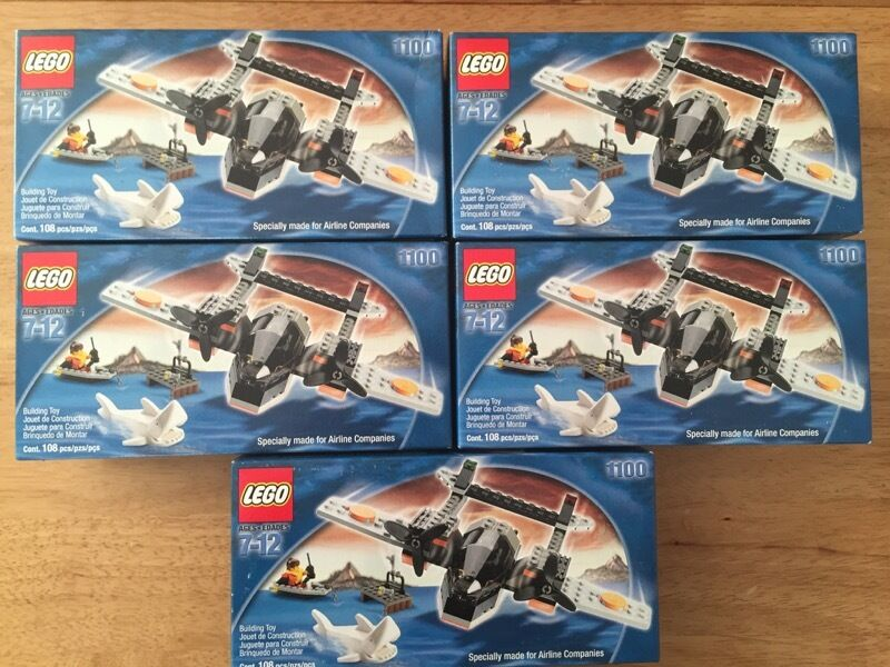 LEGO Joblot Bundle 1100 Town City Airline Promotional Sky Pirates with Shark x 5