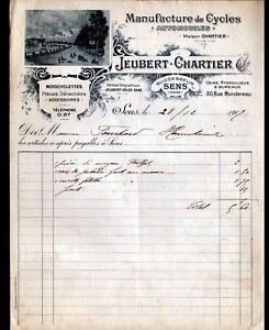 """SENS (89) USINE de MOTOS , CYCLES & AUTOMOBILES """"JEUBERT & CHARTIER"""" en 1907 - France - État : Occasion : Objet ayant été utilisé. Consulter la description du vendeur pour avoir plus de détails sur les éventuelles imperfections. Commentaires du vendeur : """"CORRECT"""" - France"""