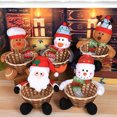 5X Merry Christmas Candy Storage Basket Decoration Santa Claus Storage Basket UK