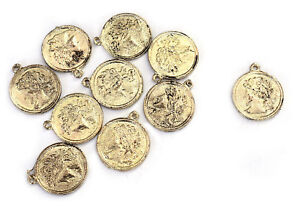 Metal-Craft-6-PC-Coin-Appliques-Ethnic-Patch-Sewing-Dressing-Accessories-Hippie