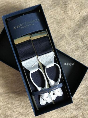 Albert Thurston Braces//Suspenders Woven Barathea Solid Colours