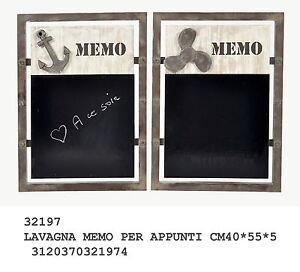 Dettagli su Lavagna da cucina memo in metallo e legno per appunti da  appendere
