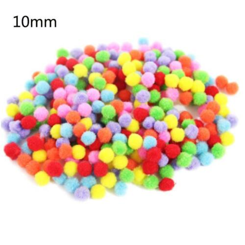 Fluffy Pompom Soft Plush Cloth Mix Color Fur-ball Craft Ball Fuzzball Home Decor