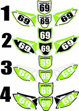 2009-2012 Kawasaki KX250f KX 250f KXF Number Plates Side Panels Graphics Decal