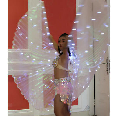 LED Luminous Wings Costumes Belly Dance Club Light Up Show Dance Isis Wing