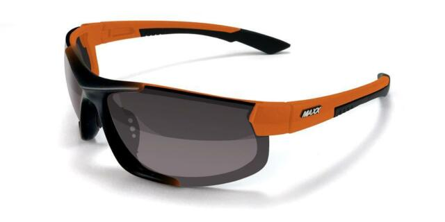 312f23ffed3 Maxx HD Sunglasses Blitz Black Orange Golf Fishing Smoke Lens LT A1 ...