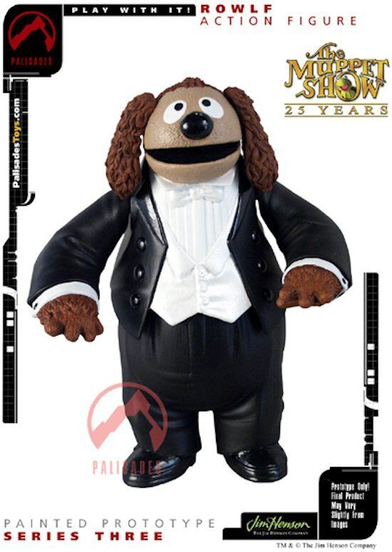 MUPPETS SHOW ROWLF AND BABY GRAN PIANO ACTION FIGURE THE MUPPET NUOVA NEW