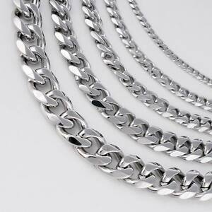 18-36-039-039-MENS-Stainless-Steel-3-5-7-9-11mm-Silver-Tone-Cuban-Curb-Chain-Necklace