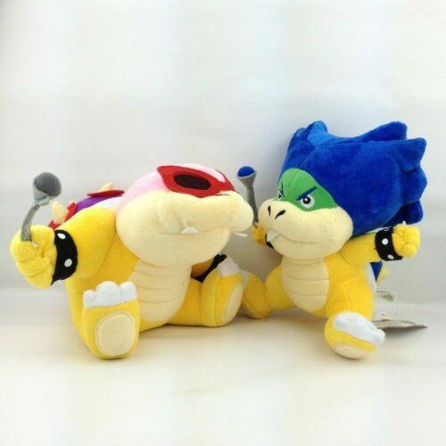 "2X Super Mario Bros Koopalings Roy /& Ludwig von Koopa Plush Soft Toy Bowser 7/"""