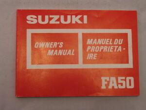 SUZUKI-FA50-1986-OWNERS-MANUAL-MANUEL-DU-PROPRIETAIRE