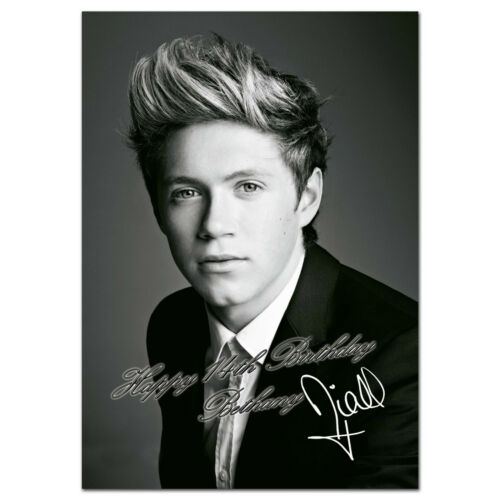 c255; Large Personalised Birthday card; Custom made for any name; Niall Horan 1D