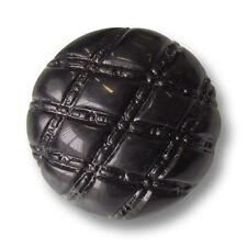 5 edle große gewölbte schwarze Ösen Knöpfe mit Rauten Muster (4319sc)