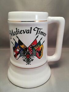 Medieval-Times-Beer-Stein-Mug-Tankard-flags-6-034-tall