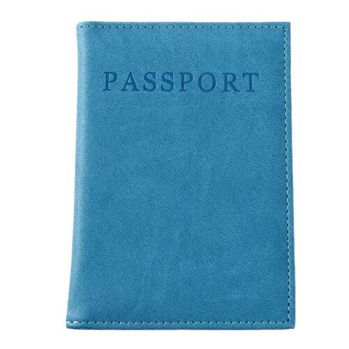 PU leather Travel Passport Holders Organizer Protector Cover Document Bag LA