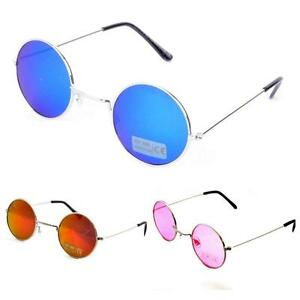 Retro-Round-Coloured-Lens-90s-Steampunk-Sunglasses-UV400-BNWT-Lennon-Ozzy-Grunge